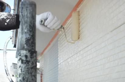 外壁下塗り・中塗り・上塗り