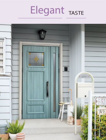 豊富なデザインと多彩なカラー、玄関ドア